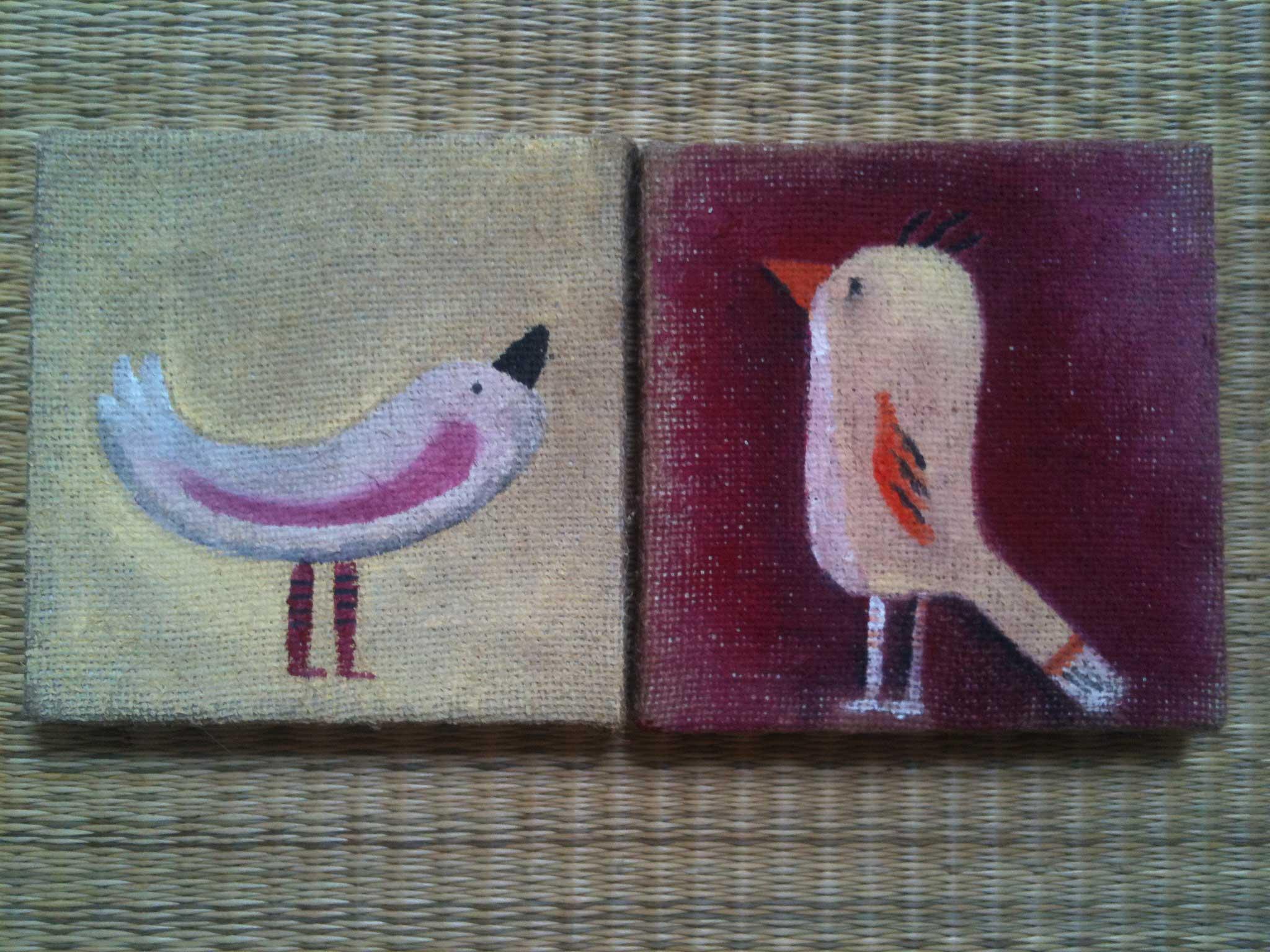 Quadretti uccellini